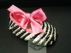 crystal zebra baby shoes. custom baby shoes cheaper than anyone else can design. See their etsy store!!! :)