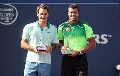 Roger Federer and Jo-Wilfred Tsonga Toronto 2014