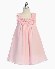 Elegant  Floral Empire Waist Chiffon Dress - I prefer this. Not really…
