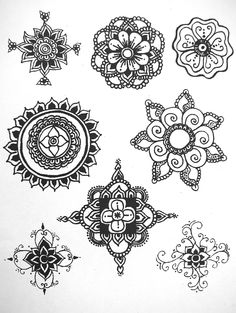 Easy Henna Designs On Paper For Beginners Google Search Henna