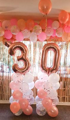 Check out our 30th birthday party decorations here 30th Birthday Balloons, 30th Birthday Cake Topper, Gold Birthday Party, Happy 30th Birthday, Birthday Party For Teens, 14th Birthday, Birthday Ideas, Sweet 16 Party Decorations, Birthday Party Decorations Diy