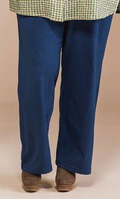 40f250bb033d WIDE LEG COTTON KNIT PANTS Plus Size Pants