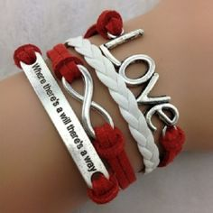 A Will & A Way With Love & Infinity Wrap Bracelet. Starting at $3 on Tophatter.com!