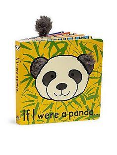 Jellycat If I Were A Panda Book - Cream-Black
