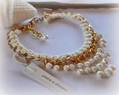 pearl beaded necklaces Ideas, Craft Ideas on pearl beaded necklaces Pearl Jewelry, Beaded Jewelry, Jewelery, Beaded Bracelets, Jewelry Crafts, Jewelry Art, Jewelry Design, Handmade Necklaces, Handmade Jewelry
