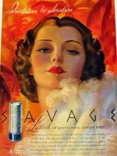 Savage Lipstick Ad, 1938