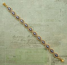 Linda's Crafty Inspirations: Free Beading Pattern - Simple IrisDuo Chain