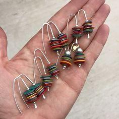 My stack earring design #bullseyestudioart#lovetocreate #earrings