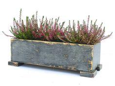 Wooden Herb Planter, Windowsill Flowerpot, Box For Herbs, Handmade Box,  Indoor Herb