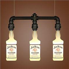 Mall Restaurant Glass Bottle Bottle Droplight for the basement bar