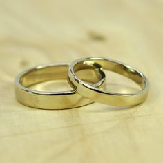 White Gold Wedding Ring Set by seababejewelry
