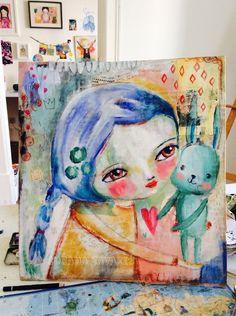 Susana Tavares: Painting process - mixed media