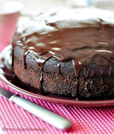 Simple Chocolate Cake Recipe - Cuisine of Czechia Tasty Chocolate Cake, Chocolate Recipes, Sweets Recipes, Cake Recipes, Czech Desserts, Czech Recipes, English Food, Happy Foods, Pastry Cake