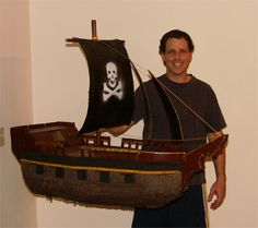 Wow, pirate ship pinata tutorial. Sounds like a boy-daddy project to me!
