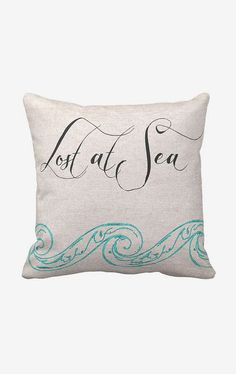 Cotton Beach Pillow Lost at Sea Cotton and Burlap