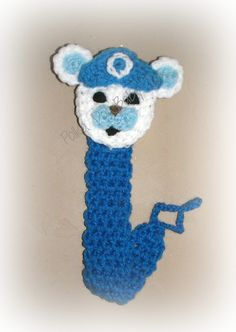 Crochet paci clip Inspired by Captain Barnacles from Octonauts Book mark