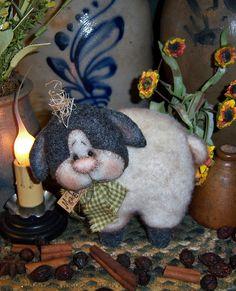 Patti/'s Ratties Primitive Spring Wool Sheep Ewe Lamb Doll Paper Pattern #566