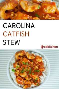 This saucy southern staple is as comforting as it gets. Catfish and salt pork spiced with bay leaves and Worcestershire in a tomato sauce over rice - now that's down home cooking. Meat Recipes, Seafood Recipes, Cooking Recipes, Healthy Recipes, Gumbo Recipes, Cafe Recipes, Orzo Recipes, Budget Recipes, Diabetic Recipes