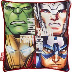 """Cuscino decorativo """"Team"""" di #Avengers con stampa. Materiale: 100% poliestere. Dimensioni: 40 x 40 cm circa."""