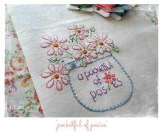 (10) Name: 'Embroidery : Pocketful of Posies - stitchery 07/16/15  JS