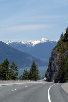 Road to Whistler Mountain, British Columbia... Hairy scary trip in a less than perfect RV!
