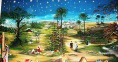 Resultado de imagen para imagenes de paisajes de pesebres Nativity, Country, Cute, Christmas, Painting, Block Prints, Christmas Scenery, Design Websites, Flower Backgrounds