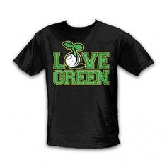 SeedleSs Clothing - Love Green T-Shirt - Black