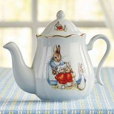 Shop this Beatrix Potter Peter Rabbit Classic Porcelain Teapot. Made with fine German porcelain, this collectible teapot is hand detailed with real gold.