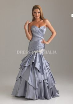 Corset+Back+Mermaid+Taffeta+With+Little+Applique+Evening+Dress/+Prom+Dresses