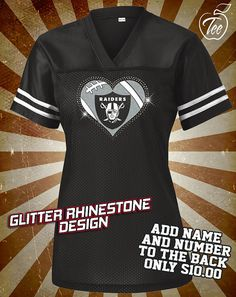 6197f9fede16f Oakland Raiders Rhinestone Glitter Bling by MasterPeaceDesigns Houston  Texans Football