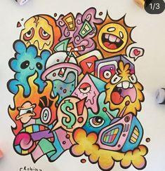 Cool Doodles, Doodle Art Designs, Grafiti, Graffiti Drawing, Doodle Drawings, Aesthetic Vintage, Clay Art, Art Inspo, Amazing Art