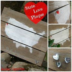 day2day SuperMom: State Love Plaque ~ DIY Friday