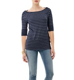 A universally flattering cut, the boatneck can transform simple jeans and a tee into a polished look