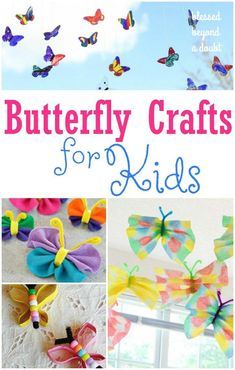 Here are 15 super fun butterfly crafts for kids for all ages. It's always fun to learn about butterflies when there is a craft involved.  #kids #butterfly #kidscrafts