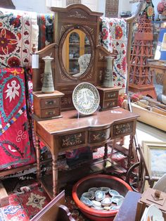 euro vintage furniture | Chinese Dressing Table with European influence. Possibly Straits ...