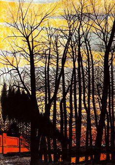 Leon Spilliaert, Trees at Sunset