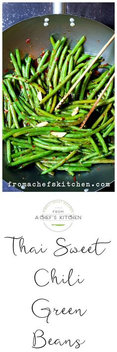 Thai Sweet Chili Green Beans are quick, easy and so flavorful!
