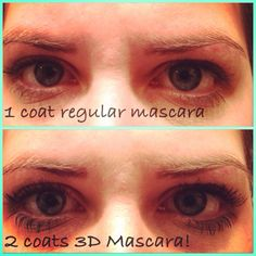 Before and after 3D Lash Mascara!!! 300% more length and volume without falsies!!!  https://www.youniqueproducts.com/kayliharding/party/61417/view