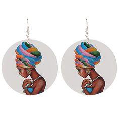 2 paires Lady Figure carte africaine Big Dangle boucles d/'oreilles bijoux de