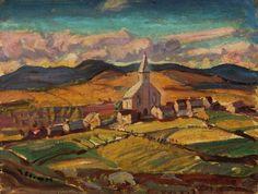 Arthur Lismer - Quebec Village (Saint-Hilarion)