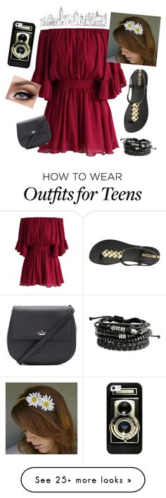 """""""#55"""" by dmartens388 on Polyvore featuring Chicwish, IPANEMA, Kate Spade and Casetify"""