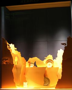 Hermes by window display, via Flickr