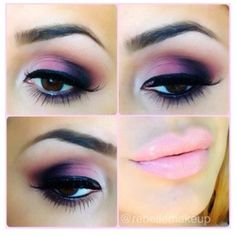 Lovely eye-make-up for darker eyer! smokey-effect with eyeliner and a finnish with nude lips. Crazy Makeup, Pretty Makeup, Love Makeup, Makeup Tips, Makeup Looks, Hair Makeup, Makeup Ideas, Awesome Makeup, Gorgeous Makeup