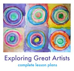 Exploring great artists :: complete art lesson plans for elementary and preschool. Artist history lessons and hands-on, creative art projects