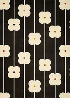 Orla Kiely wrapping paper -- so tempting. 60s Patterns, Pretty Patterns, Flower Patterns, Flower Pattern Design, Graphic Patterns, Orla Kiely, Motifs Textiles, Textile Patterns, Retro Pattern