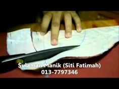 Sulaman Manik - Gadjet Tapak Piping (Jahit Piping Leher Part 1).flv - YouTube
