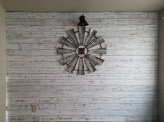 Integrity_home_diy on Instagram Wood, Clock, Wood Wall, How To Distress Wood, Distressed Wood Wall, Fixer Upper, Home Decor, Home Diy, Wall Clock