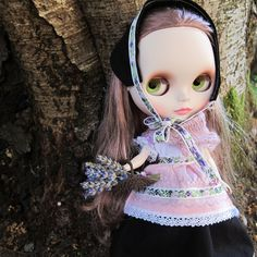 Mountain Heather Blythe Doll Folk Dress Outfit   Brown Eyed Rose