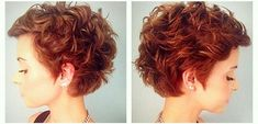 Especially on request for women with many curls … 10 great hairstyles! Curly Pixie Hairstyles, Short Curly Haircuts, Curly Hair Cuts, Great Hairstyles, Hairstyles For Round Faces, Short Hair Cuts, Curly Hair Styles, Curly Short, Short Grey Hair