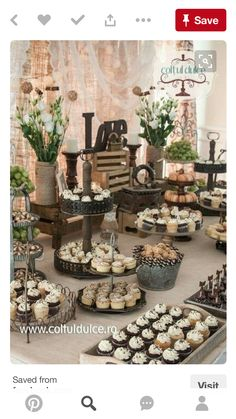 wedding Vintage candy bar - Ideas For Vintage Wedding Candy Bar Ideas Rustic Dessert Tables Buffet Dessert, Deco Buffet, Dessert Bars, Rustic Dessert Tables, Diy Dessert, Brunch Buffet, Dessert Ideas, Rustic Buffet, Dessert Table Decor
